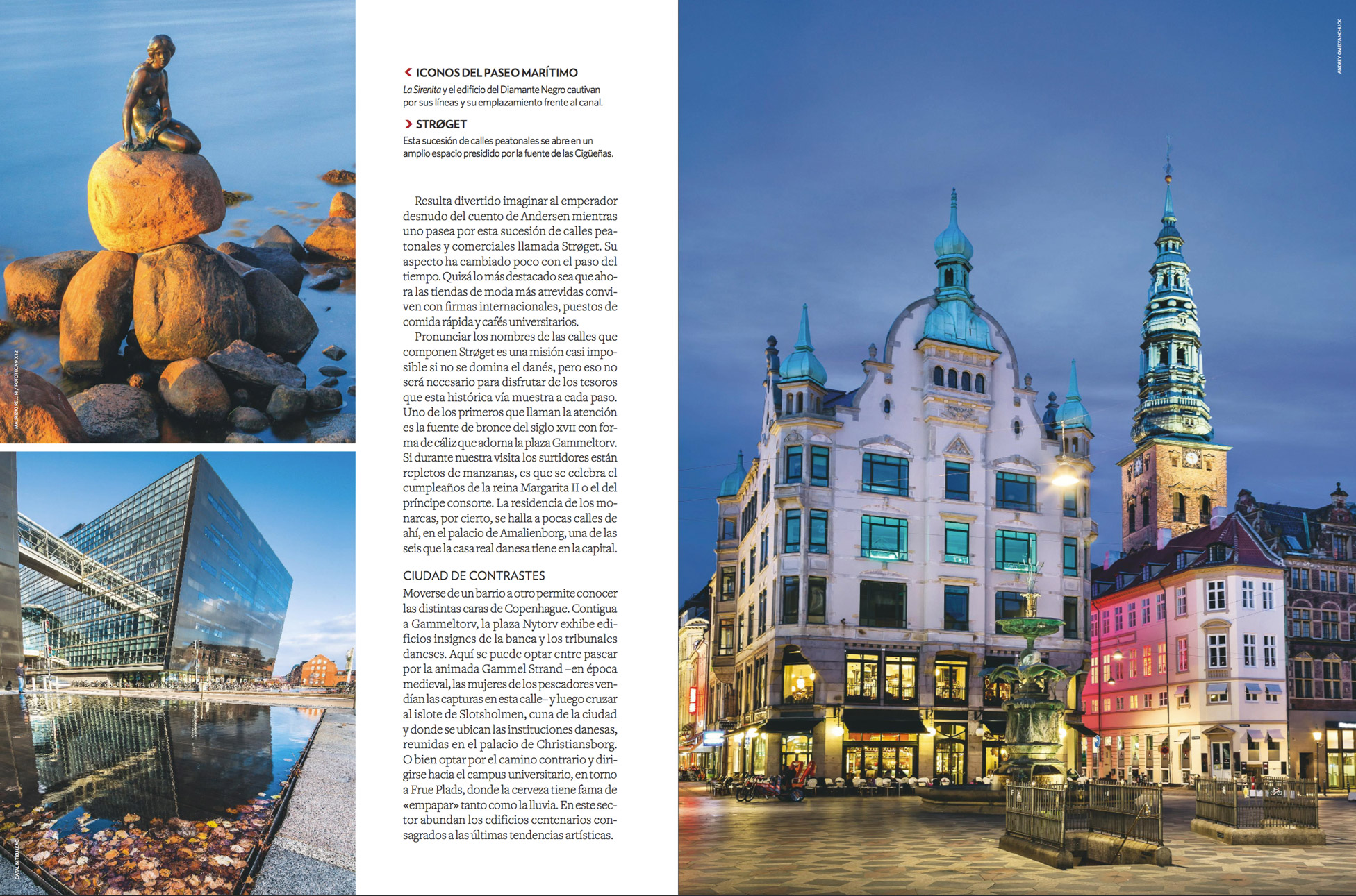 Amagertorv Square and Stork Fountain in the Old Town of Copenhagen, Denmark published in National Geographic Travel (Spain) #183