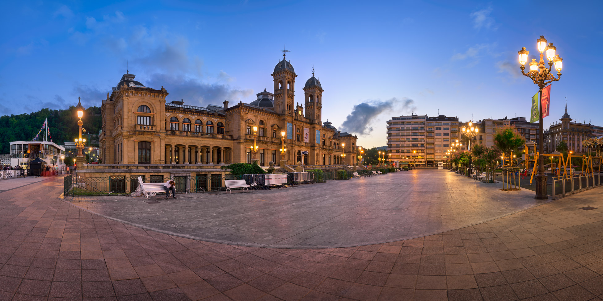 Panorama of Biblioteca Municipal Central in the Morning, San Sebastian, Basque Country, Spain