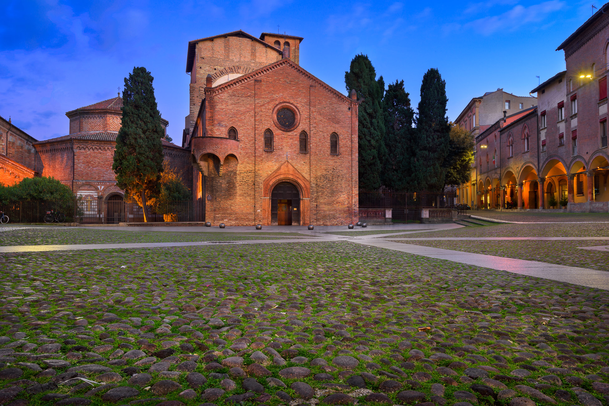 Piazza Santo Stefano in the Evening, Bologna, Emilia-Romanga, Italy