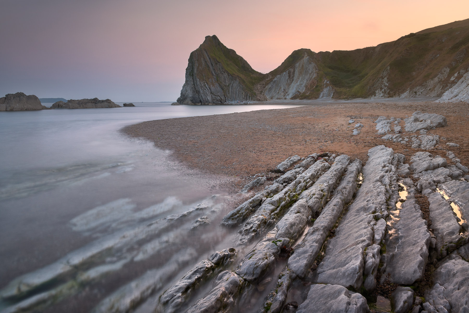 Man O'War Beach in the Evening, Dorset, United Kingdom
