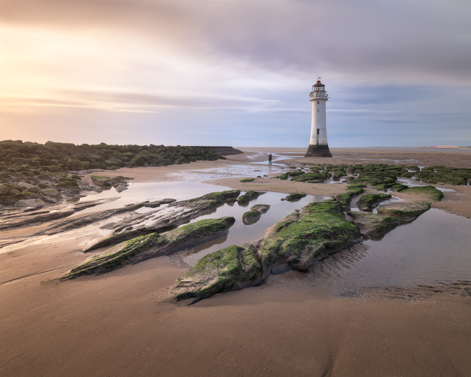 New Brighton Lighthouse in the Evening, Liverpool, United Kingdom
