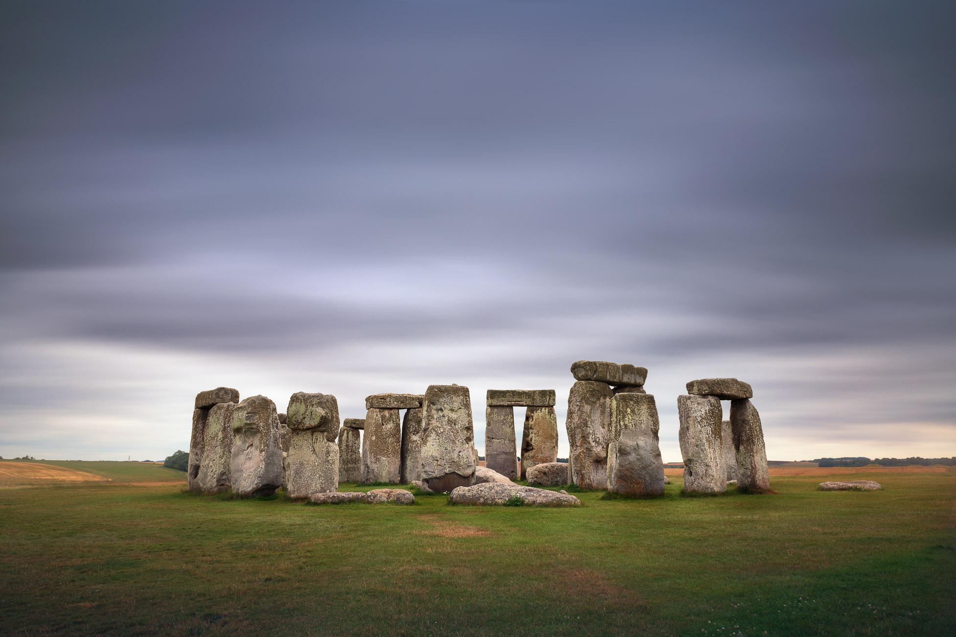 Stonehenge Monument in the Morning, Wiltshire, United Kingdom