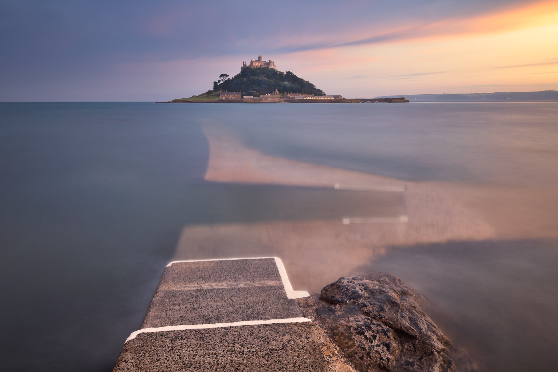 St Michael's Mount in the Evening, Cornwall, United Kingdom